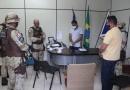 Prefeito Marcelo Angênica recepciona Comandante da CAEMA em Itamaraju